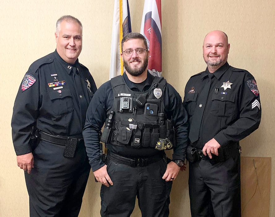By Willis Patenaude, Times-RegisterElkader police officer Adam DeShaw recently accepted a Meritorious Service Medal at a small ceremony at city hall for actions he took on the night of Aug. 20, 2018, while a deputy with the Arapahoe County Sheriff's Office in Colorado. On that night...